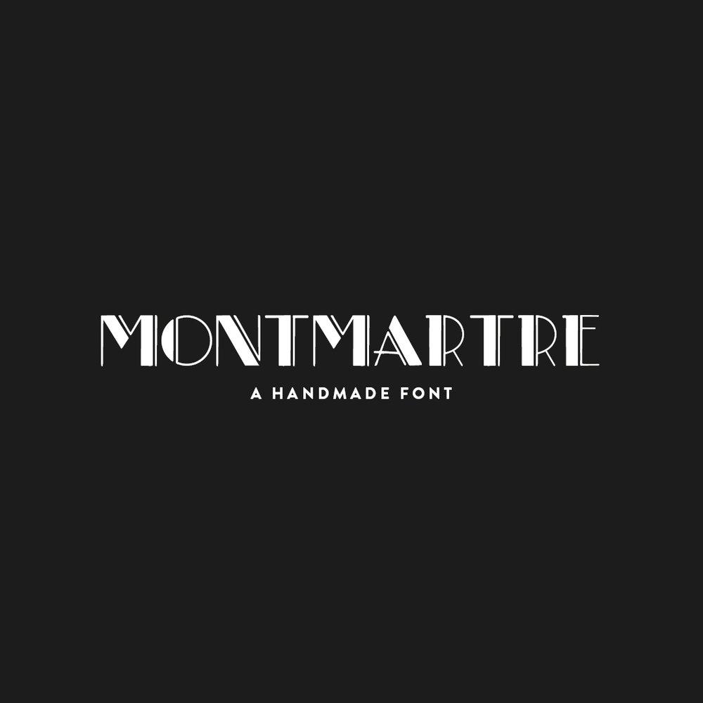 MONTMARTRE a hand-lettered font $15.00