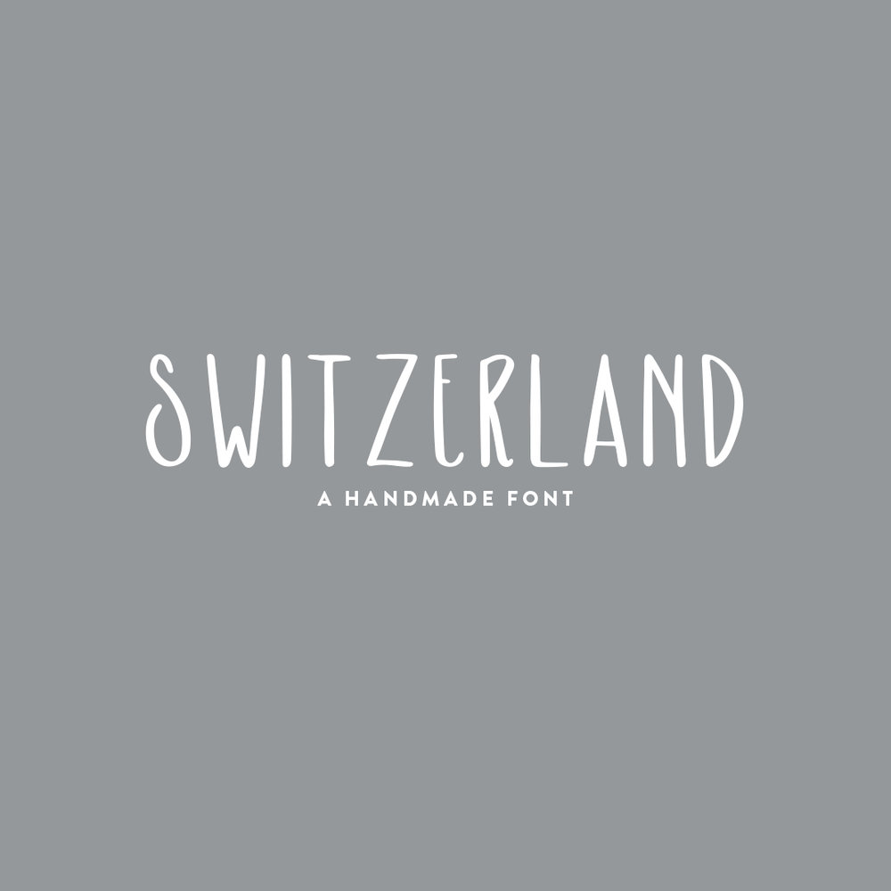 SWITZERLAND a hand-lettered font $15.00