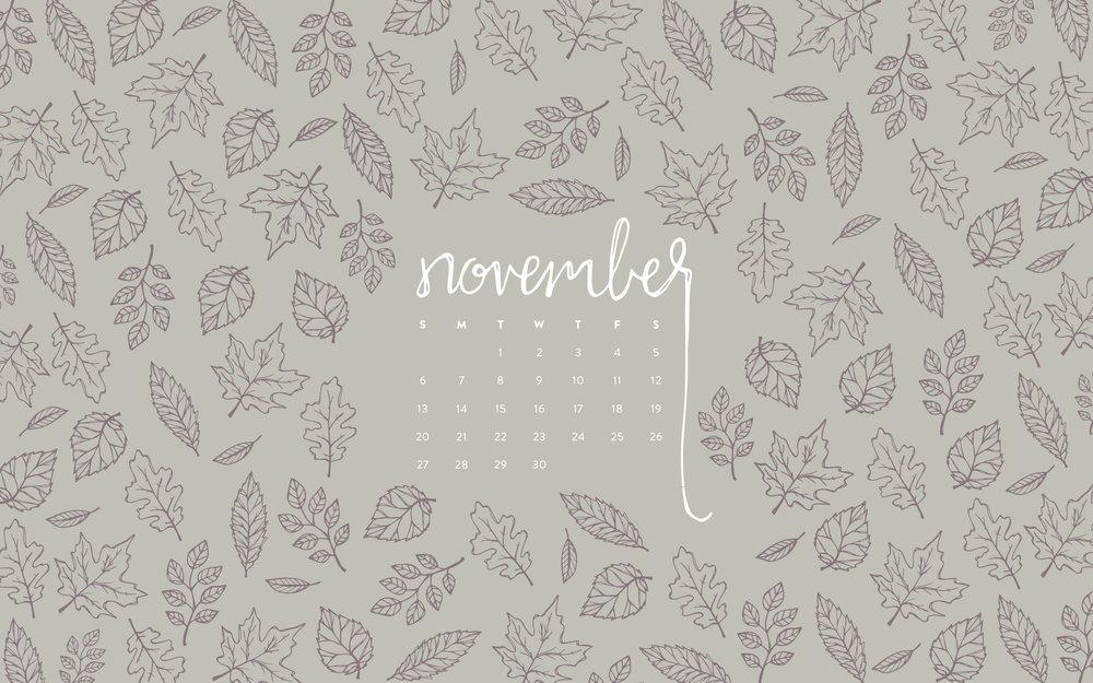 Desktop Wallpaper November 2016 Calendar
