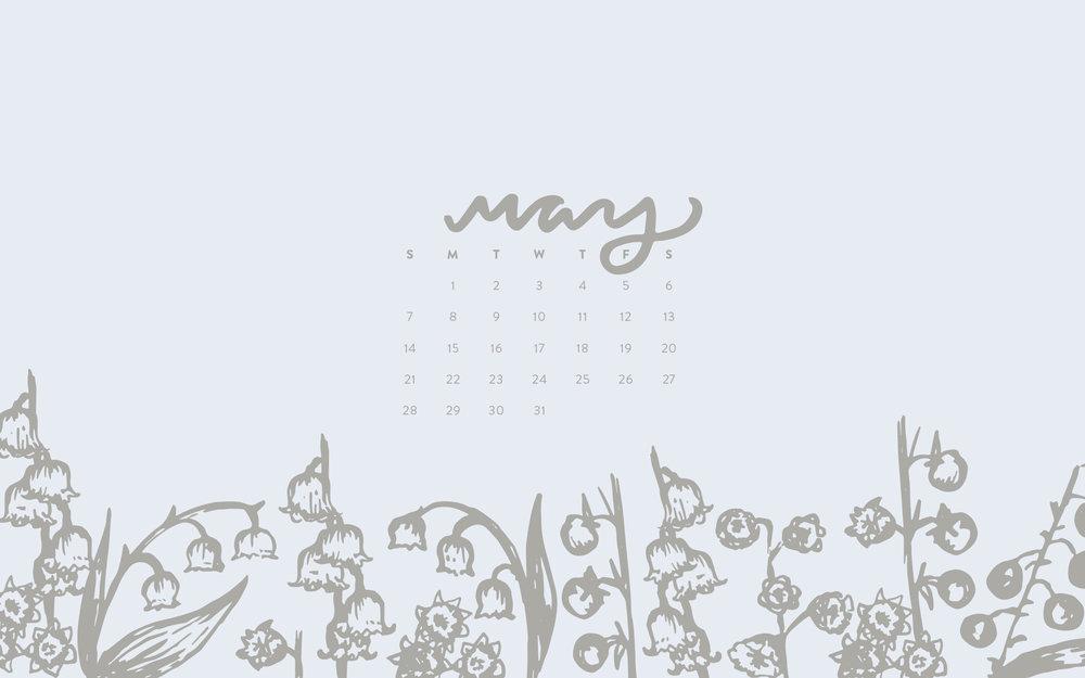 Wallpaper May 2017 Calendar Pattern