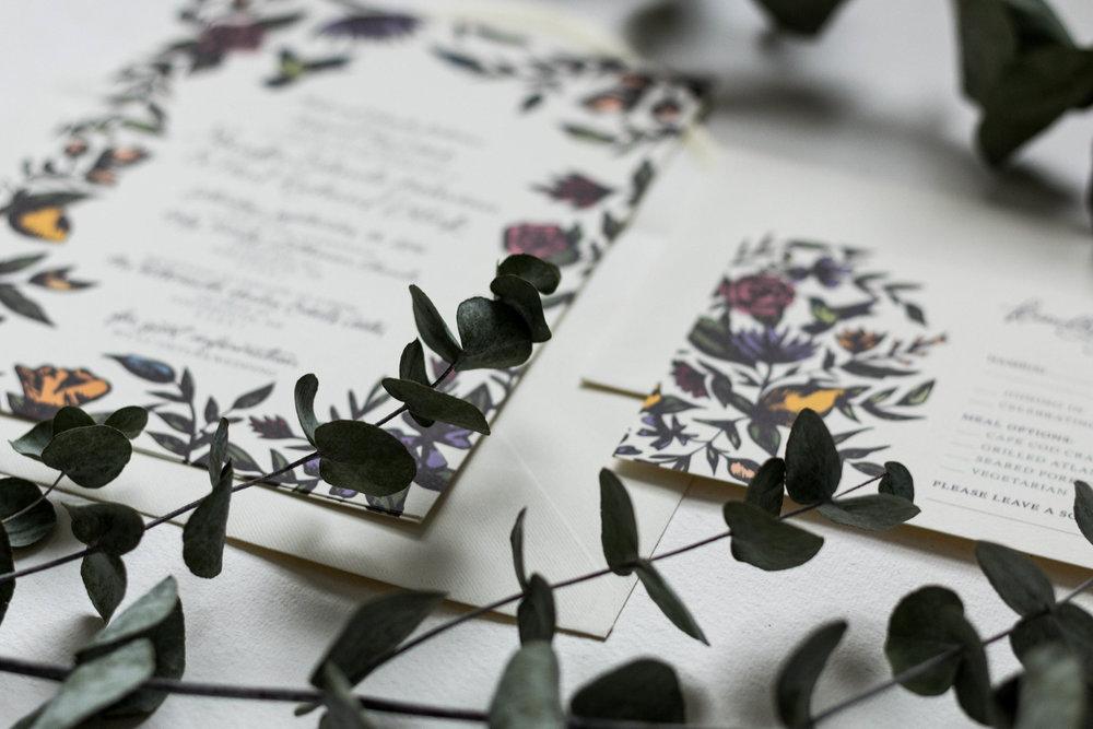 Design: Monika & Paul\'s Vintage Floral Wedding Invitations — Britt ...