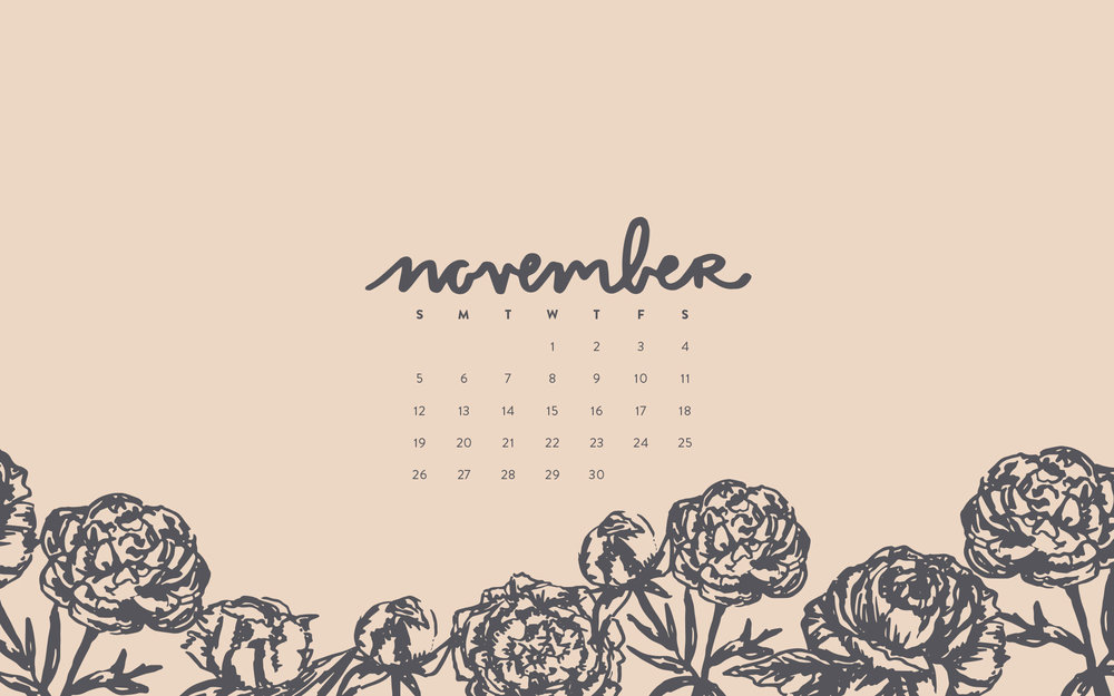 November 2017 Desktop Calendar by Britt Fabello