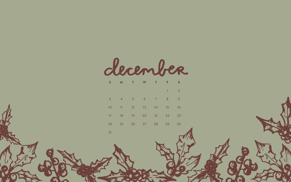 December 2017 Desktop Wallpaper by Britt Fabello