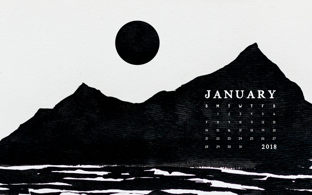 January 2018 Desktop Calendar | Britt Fabello