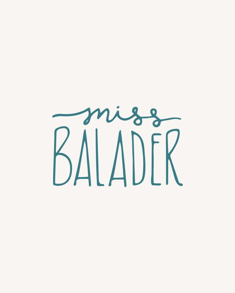 Miss Balader | Logo & Branding by Britt Fabello