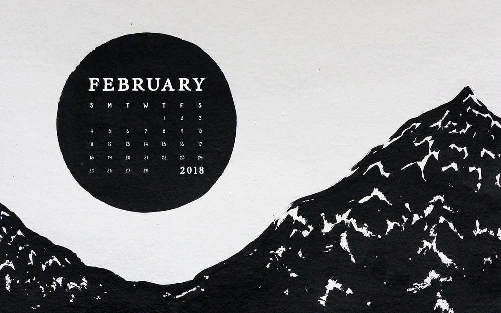 February 2018 Desktop Calendar Wallpaper | Britt Fabello