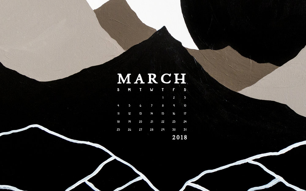 March 2018 Desktop Wallpaper by Britt Fabello