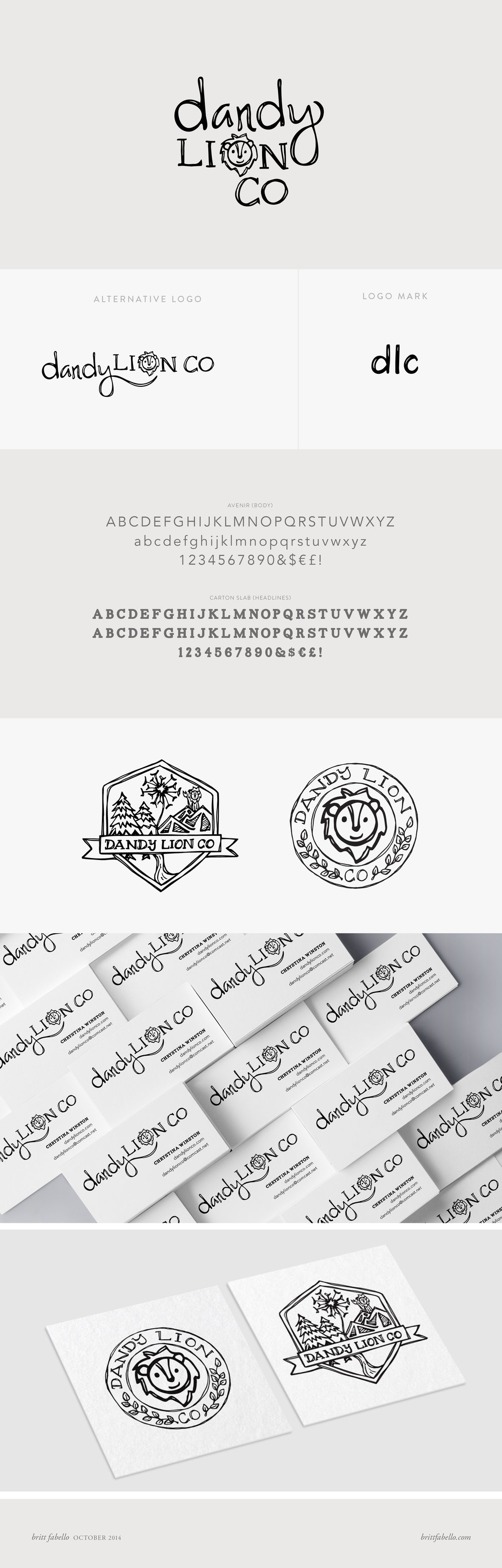 Dandy Lion Co Logo & Branding by Britt Fabello
