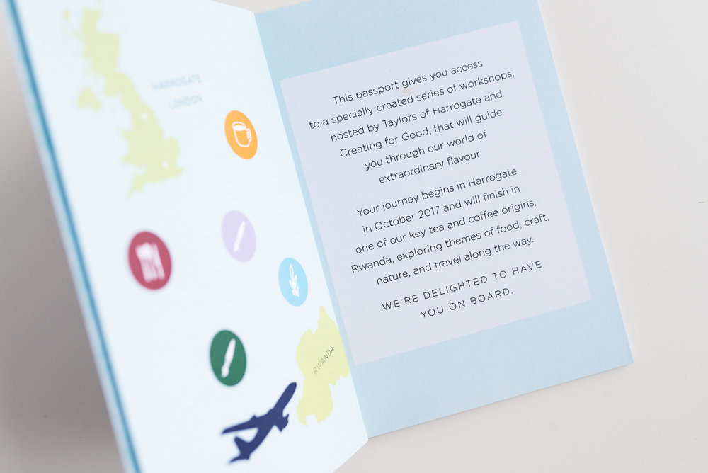 Design: Branding for Extraordinary Passport in Collaboration with Taylors of Harrogate and Creating For Good | Britt Fabello