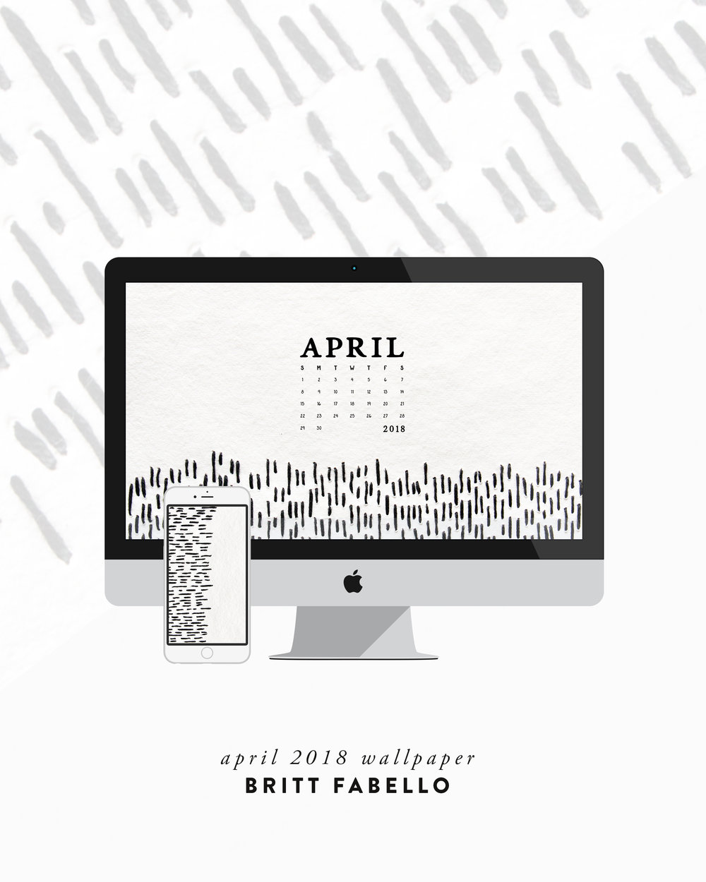 April Desktop & Phone Wallpaper by Britt Fabello