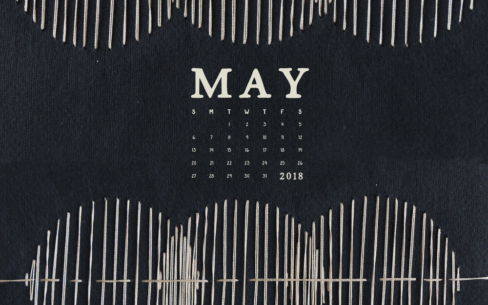 Computer Desktop Wallpaper: May 2018 Calendar & Art | Britt Fabello