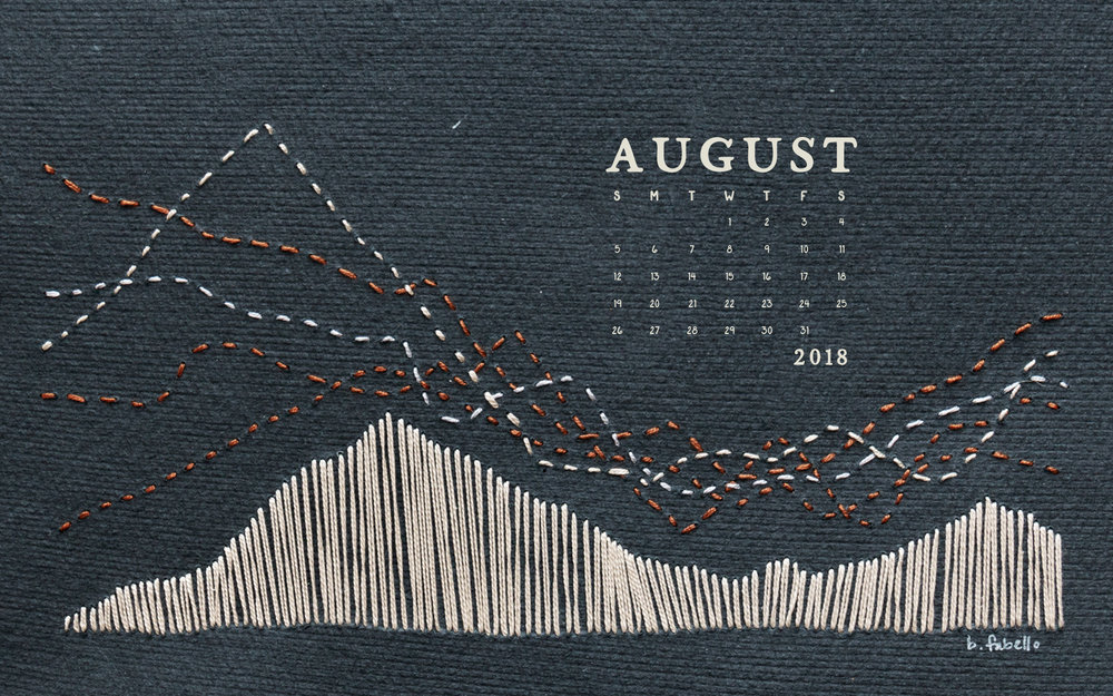 Wallpaper: August 2018 Calendar & Art | Desktop Calendar Wallpaper | Britt Fabello