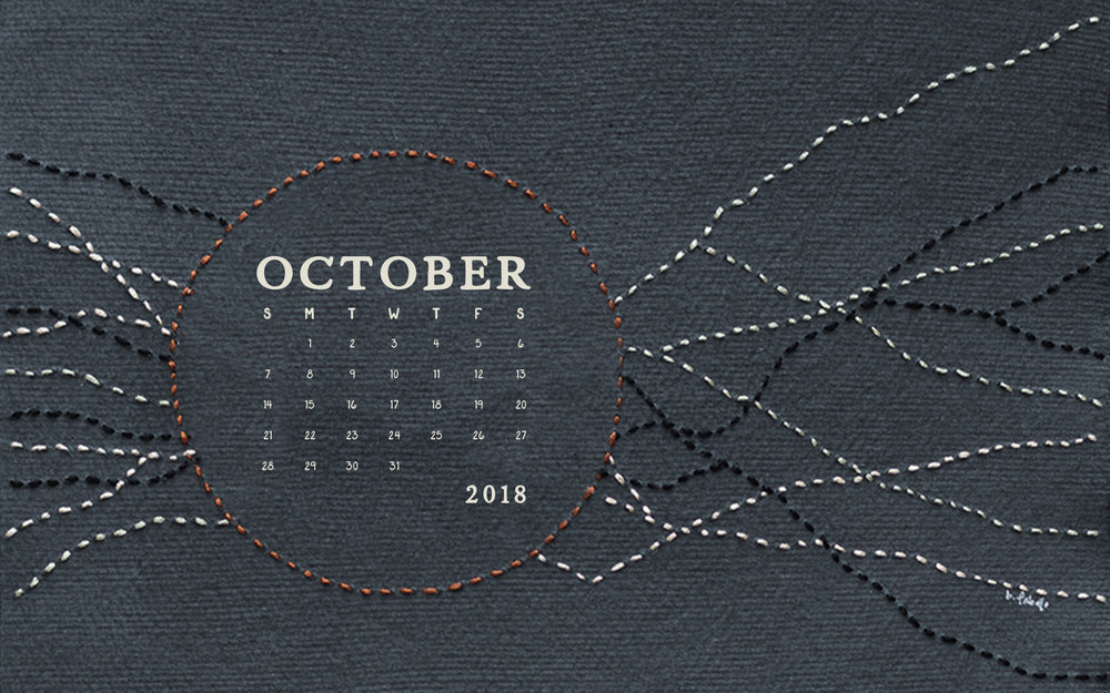 October 2018 Desktop Computer Calendar Wallpaper | Britt Fabello
