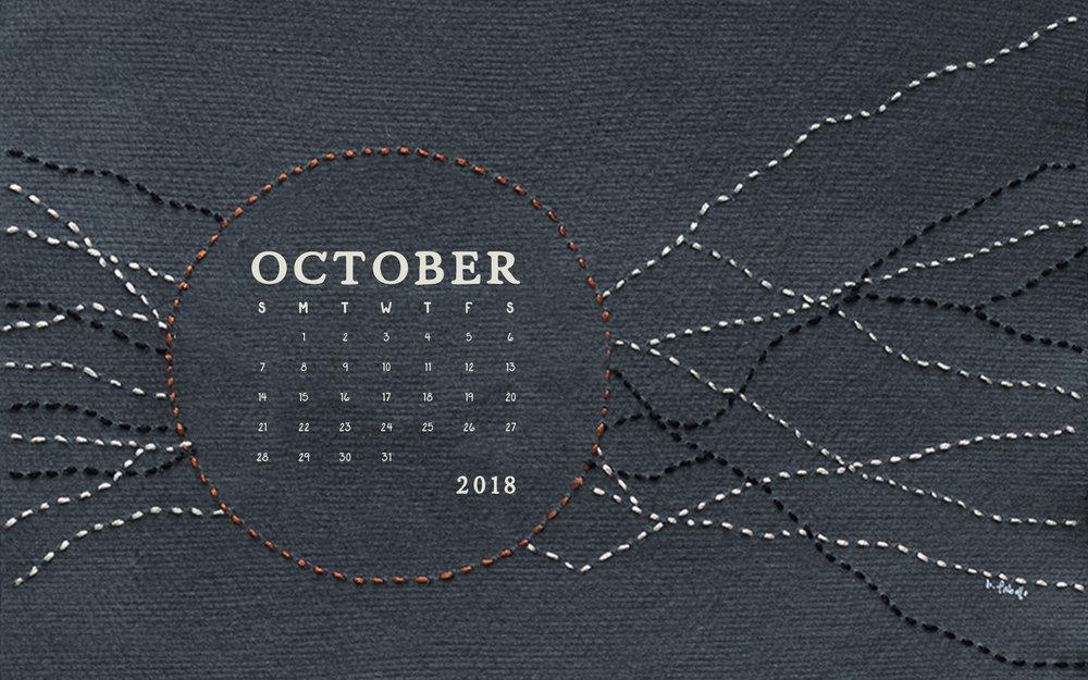 October 2018 Desktop Computer Calendar Wallpaper | Britt Fabello