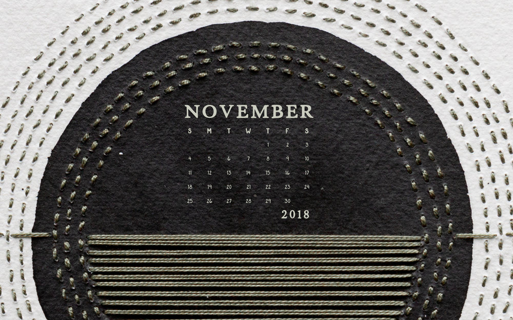 Wallpaper: November 2018 Calendar & Art | Desktop Computer | Britt Fabello