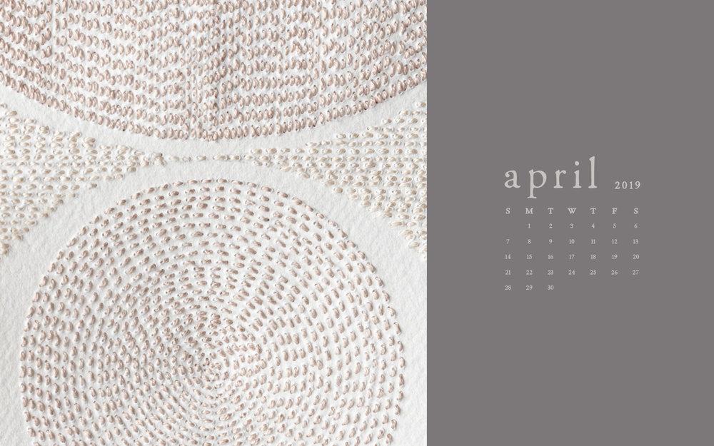 Wallpaper: April 2019 Calendar & Artwork | Computer & Phone | Britt Fabello