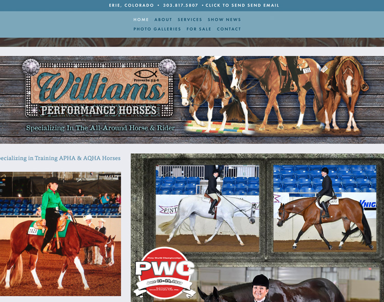 www.williamsperformancehorses.com