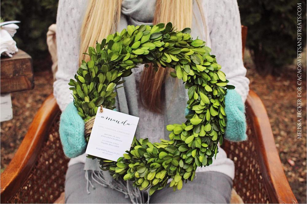 boxwood wreath invitation  melissa becker for cacaosweetsandtreats.jpg