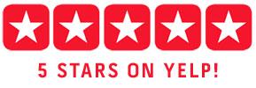 5 Stars on Yelp!