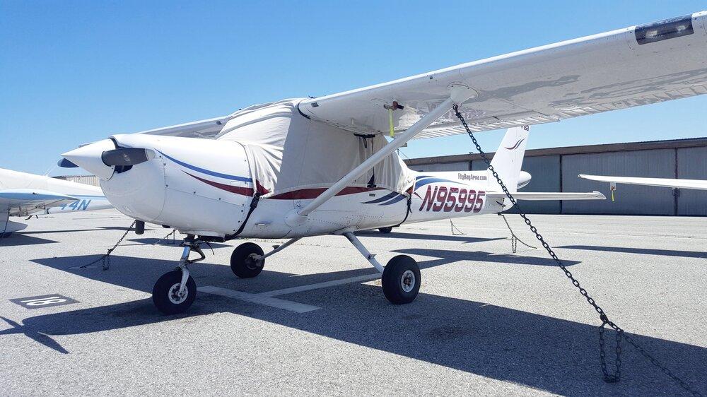 Cessna 152 - N95995    Non-Member/ Regular Member/ Premium Member  $135/hr /$122/hr /$115/hr  Great basic trainer. Lycoming 108 HP engine, good for two people under 200lbs each. Single Nav/Com, Garmin GTX327 transponder.