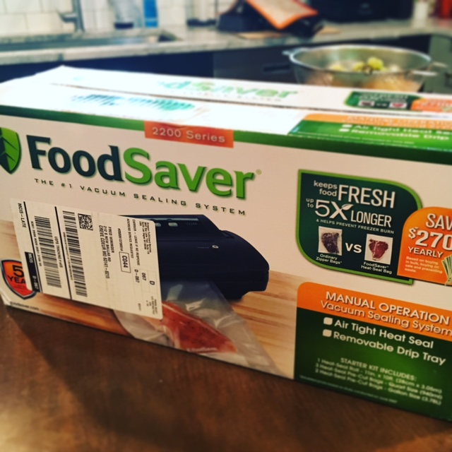 This is the one I just got, well my husband surprised me with it.  Great for not only this application but also saving some $$$ by keeping food fresh!
