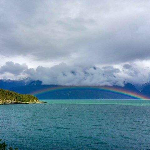 Rainbow on Lynn Canal, Viking Cove.jpg
