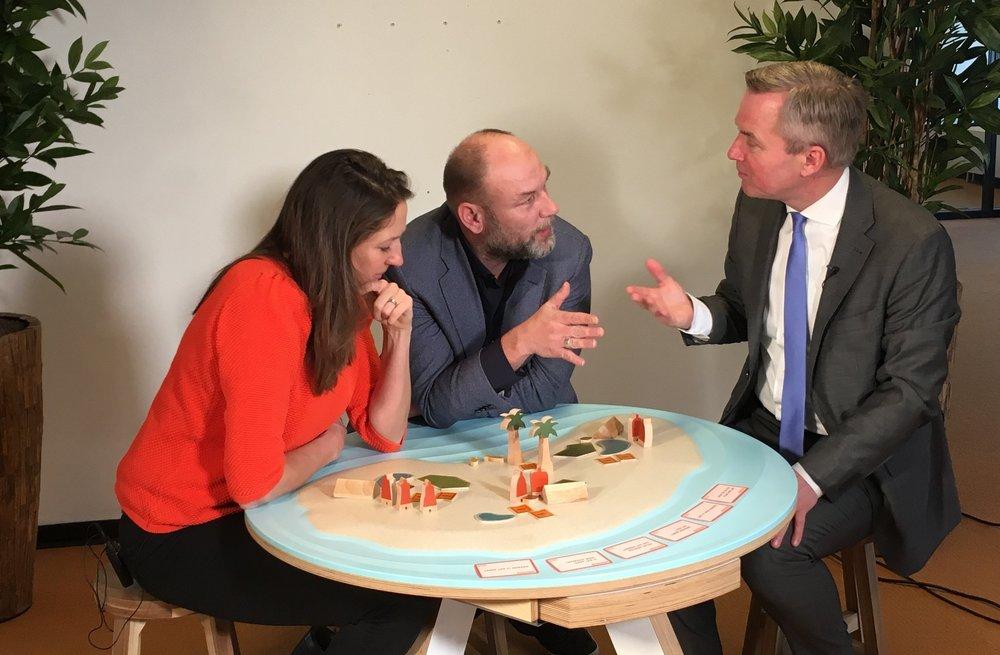 Lijsttrekkers aan de Eilandtafel bij Brandpunt+. Bekijk  hier  de drie video's met de lijsttrekkers van Amsterdam, Utrecht en Den Bosch.