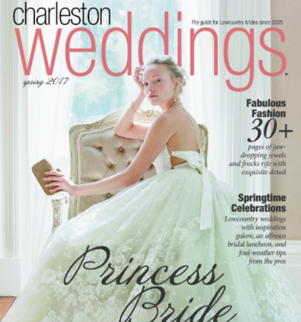 Mason Hosker featured in Charleston Weddings Spring 2017 Issue