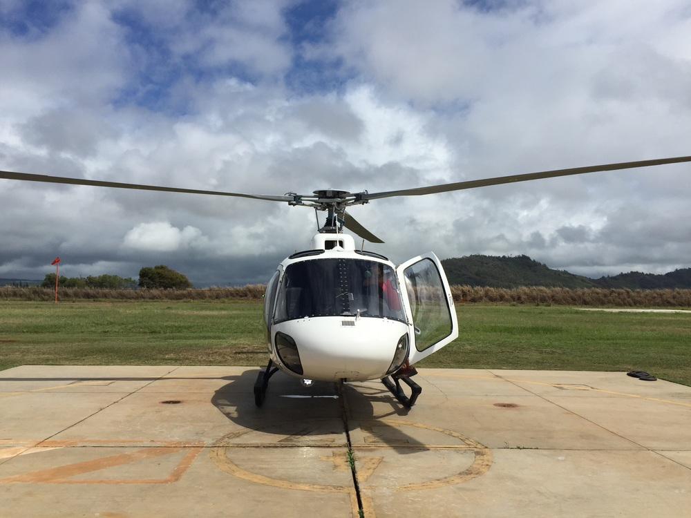 Jack Harter Helicopter tours take off from Lihue airport.