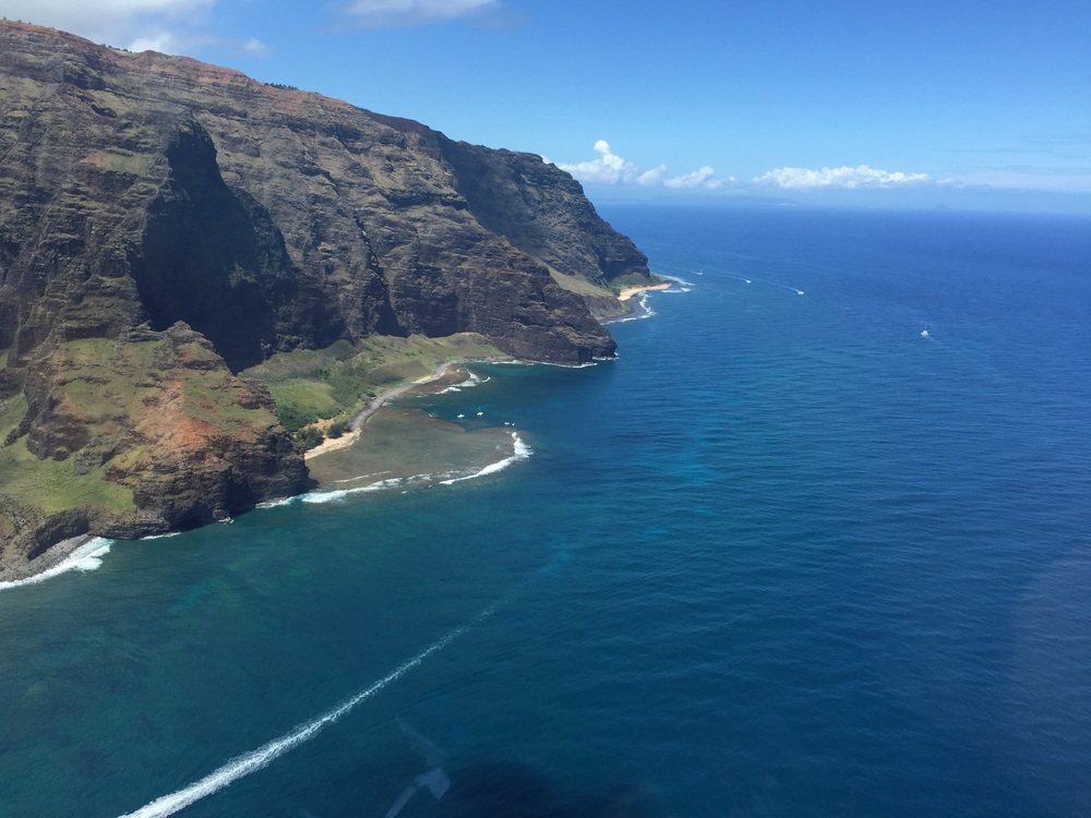 Views of Na Pali coast.