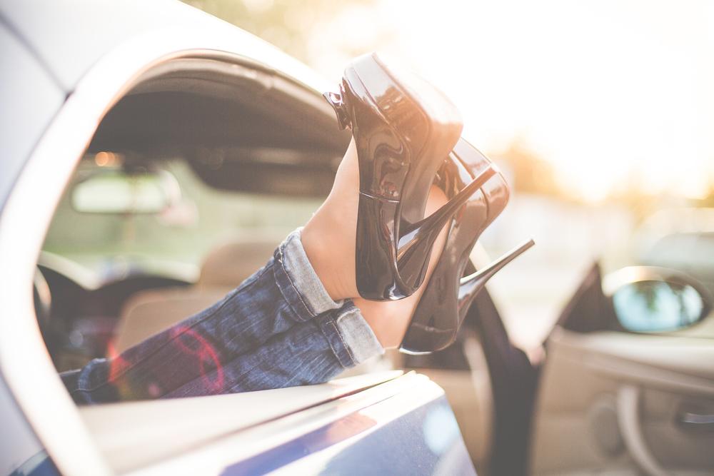 shoes car sun levity float blog