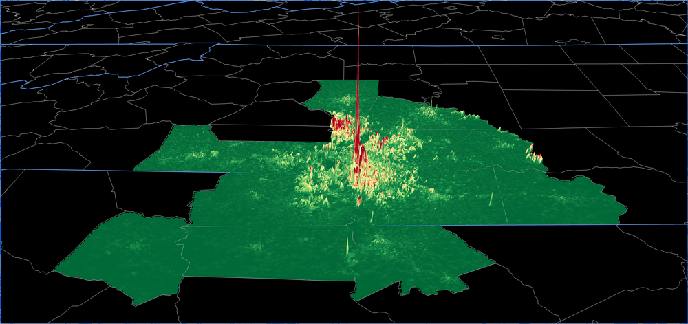 Property Value per Acre across the Charlotte, NC Metro Region.