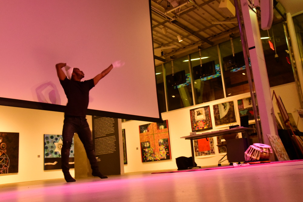 Artist:  Omar Christian showed us music in motion with his graceful moves!