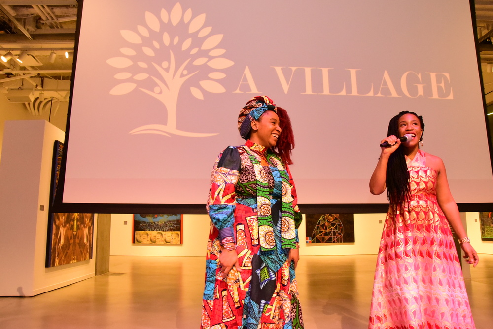 ITAVA Winter Art Showcase: Host and Sister's Erica Davies and Evonne Adebo talks to the crowd about the wonderful production journey.