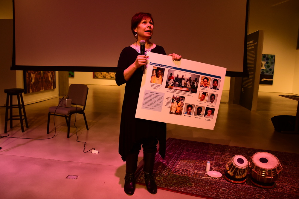 Artist: Curator Juliana Meehan shared embroideries of the Women of Savane Rutongo.