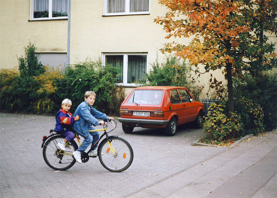 My brother and I in our hometown in Germany.