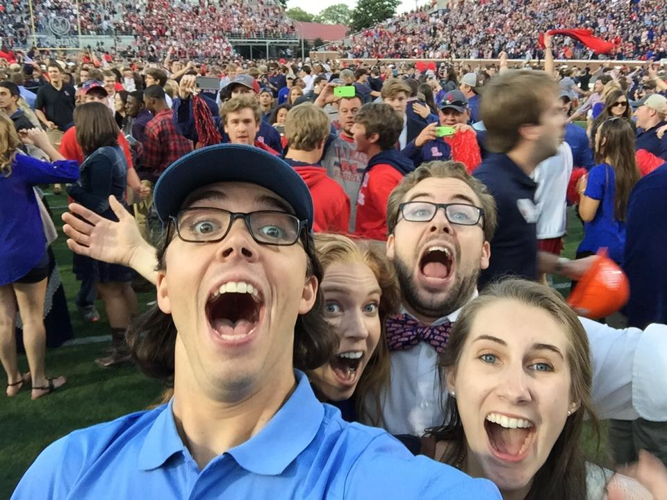 Billy, Alex Anna, Jake and I on the field right after the game - HYDR.