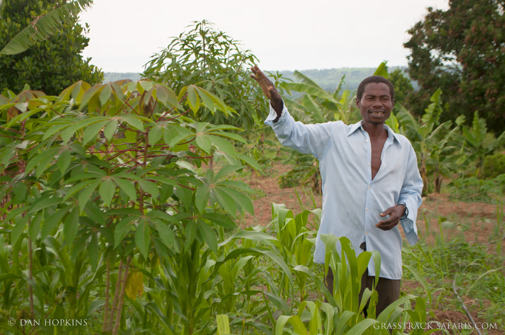Deo, a trained herbalist, shows us some of his crops and medicinal plants.