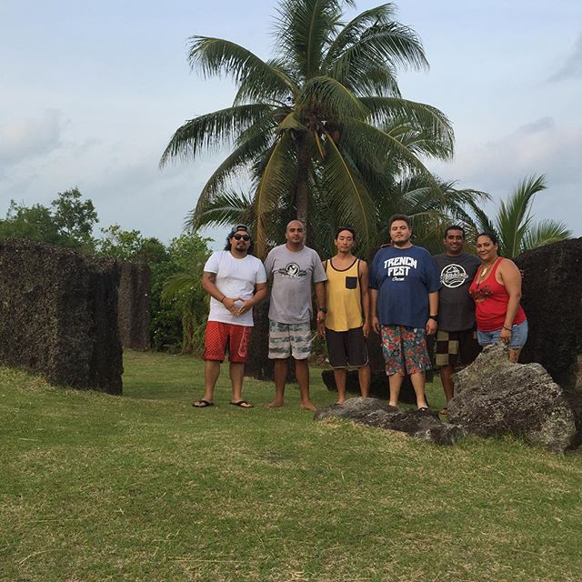 Stone monoliths in #Palau ---  awesome experience. #trenchfest