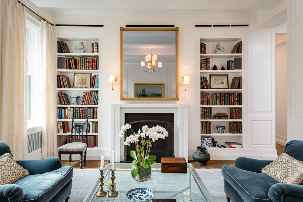 Park Avenue Living Room Fireplace Built In Shelving