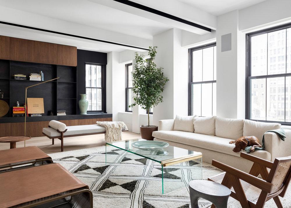 Midtown NYC Residence Living Room