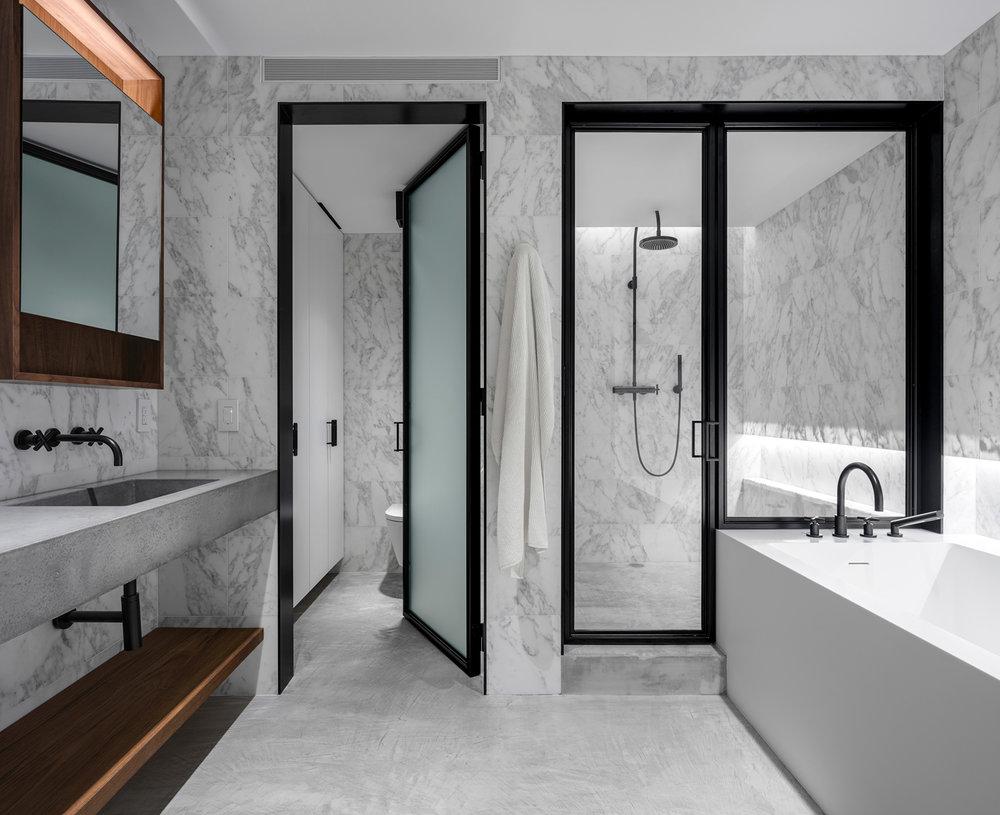 Midtown NYC Residence Master Bath