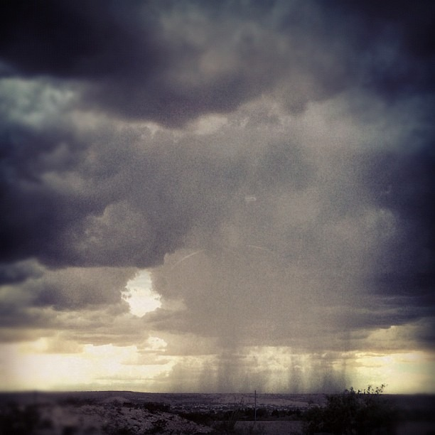 desert rain (Taken with  Instagram )
