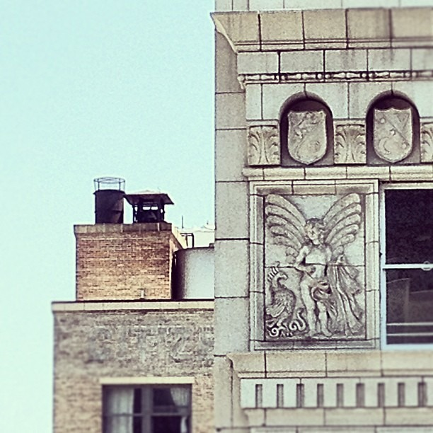 peacock, snake, fay/angel crest. View from the House of Scandalous. (Taken with  Instagram )