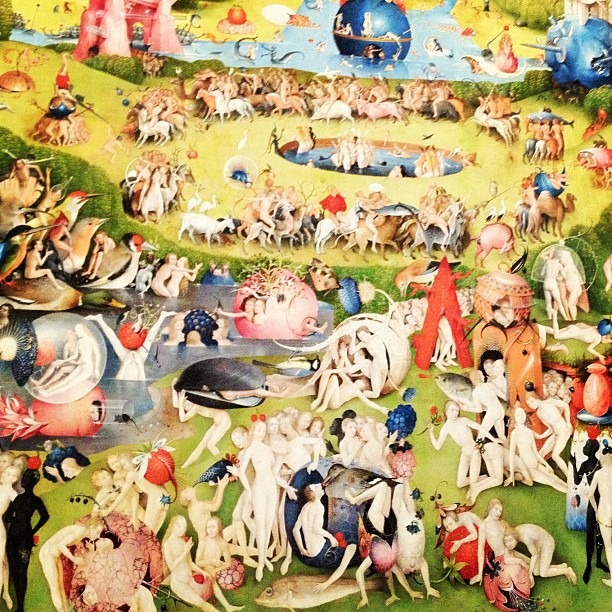 El Bosco, El Jardin de las Delicias. I can die in peace. #Bosch #Garden of Earthly Delights #madrid (Taken with Instagram at Museo Nacional del Prado)