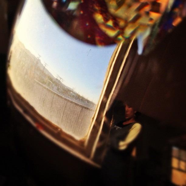 #warm #day @ the #studio #prism #crochet #pendulum #installation #hot #desert #sun #chucotown #vista