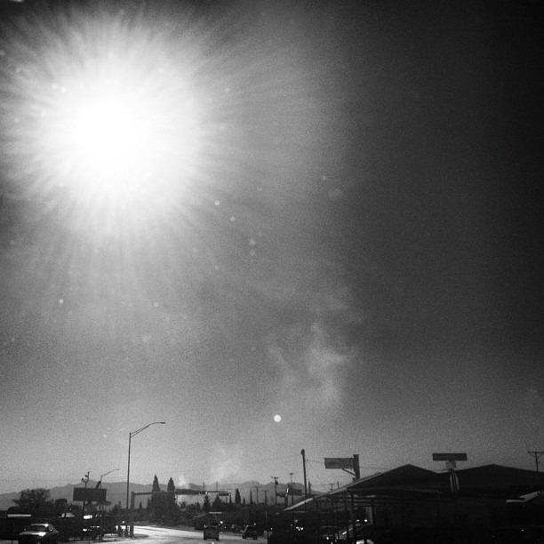 #fire onthe #drive #home #drivebyshooting #photooftheday #burningsun #suncult