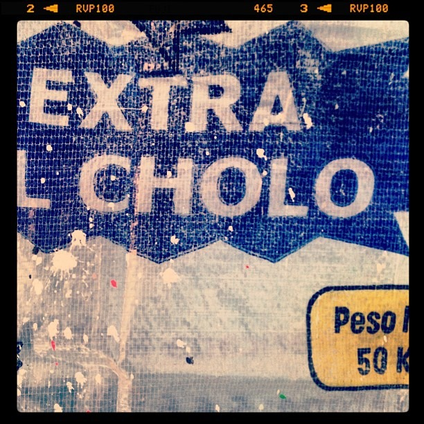 #extracholo #cholo #burlap #texture #signage