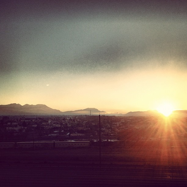 #chucotown #sunsets are a #sweet #thang #photopainting #juarez on the #horizon