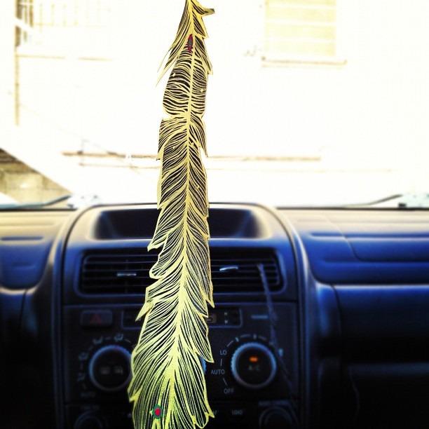 #best #mailart #ever #handmade #feather #gold #pluma de #oro